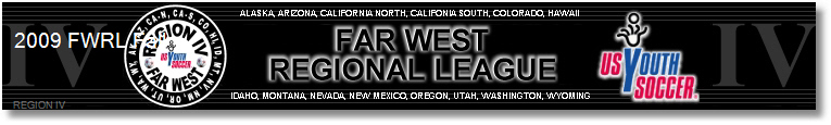 2009 Far West Regional League Fall Season banner